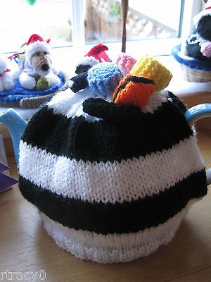 Hand knitted #liquorice #allsorts #stripey tea cosy. nan xmas?  ,  View more on the LINK: 	http://www.zeppy.io/product/gb/2/381602909770/