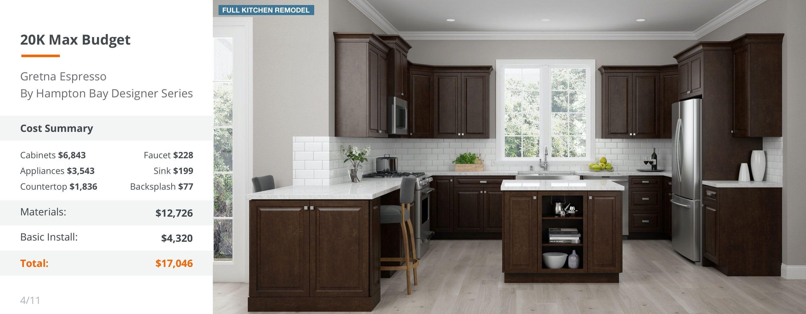 20k Max Budget Gray Desktop Kitchen Design Custom Countertops New Kitchen Cabinets