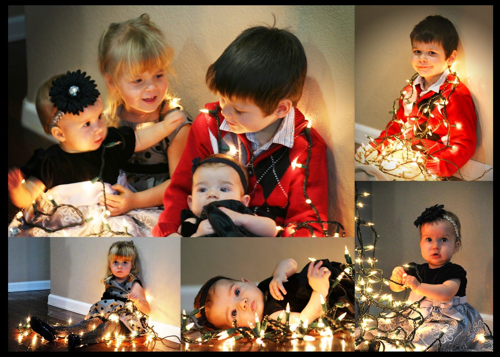 Knitting Butterflies: Christmas Lights Photo Shoot (Shoot and Edit Week 49 - Bokeh Lights)