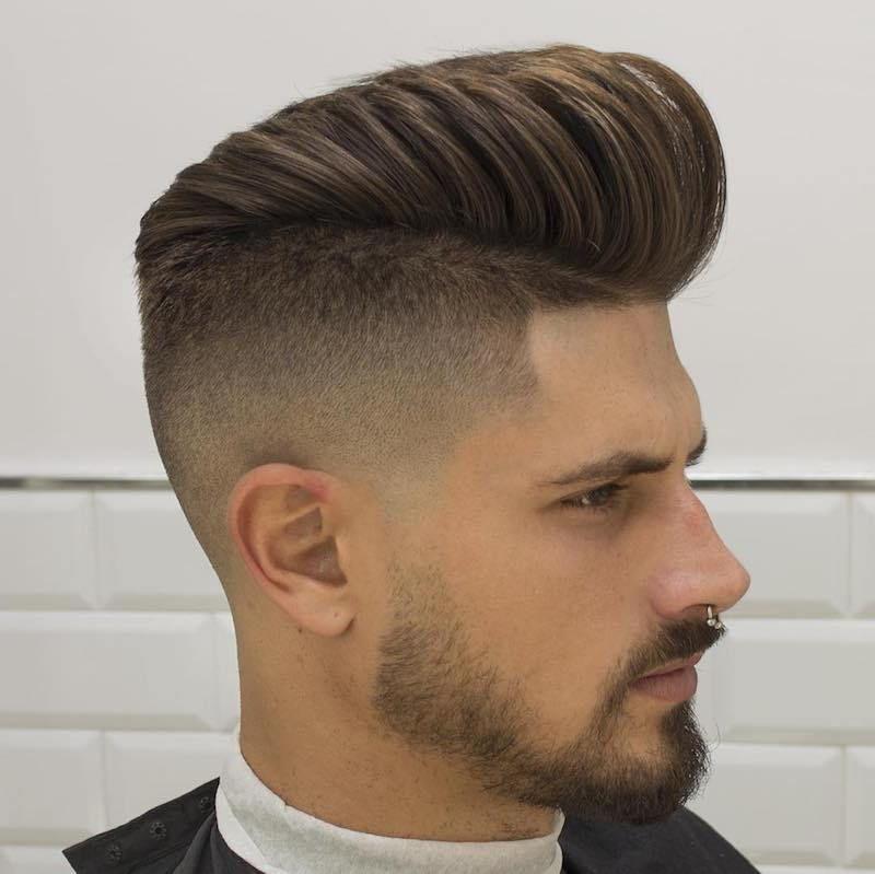 Male Pompadour Haircut Mens Short Hairstyles Pinterest