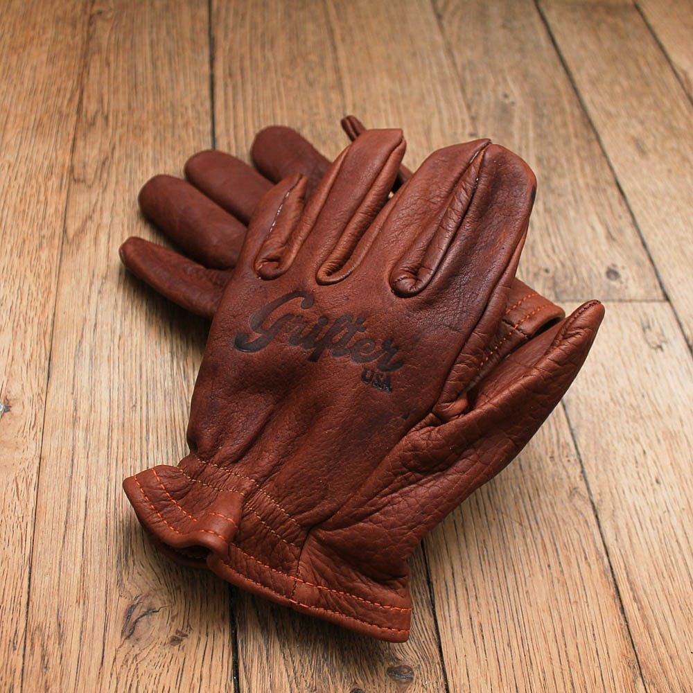 Insulated leather motorcycle gloves - Grifter Gloves