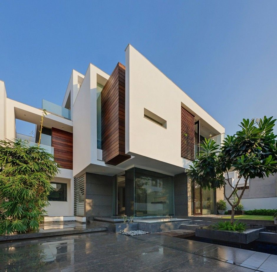 Modern Luxury House Design New Delhi Residence Pictures: Modern Home In New Delhi Overhang House By DADA & Partners