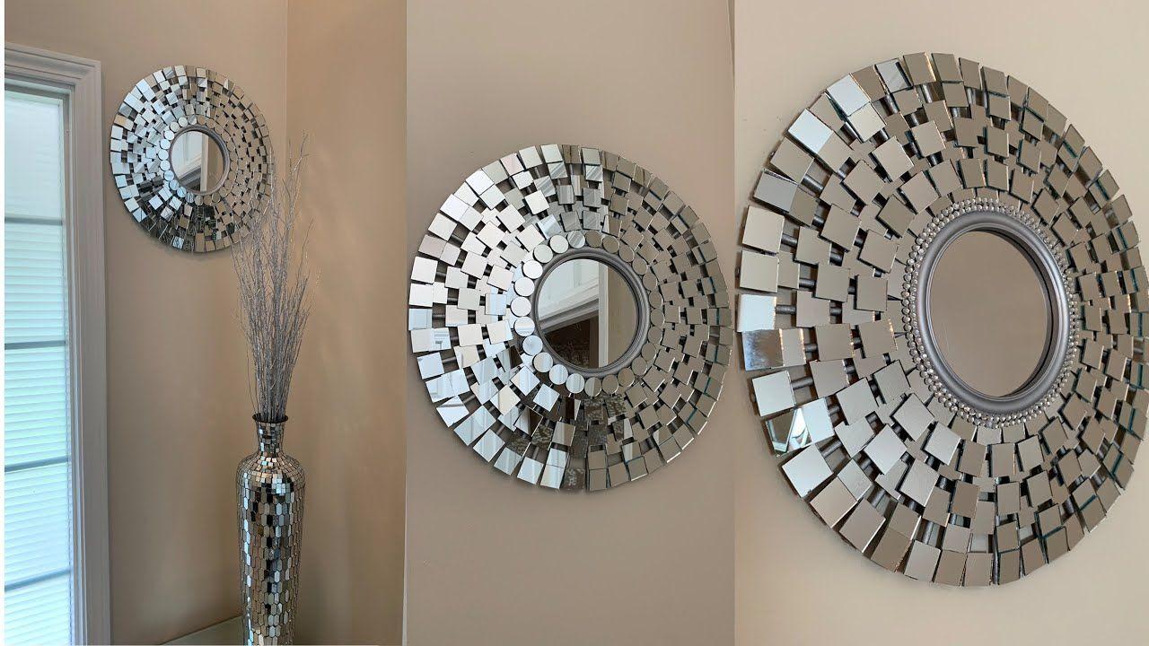 Glam Wall Mirror Diy Super Easy Affordable Youtube In 2020 Wall Mirror Diy Diy Mirror Diy Round Mirror