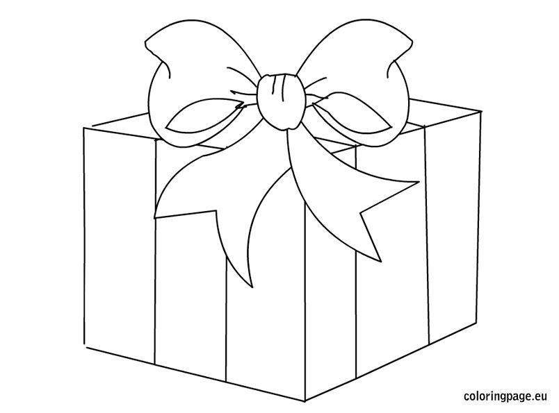 Gift Box Clip Art Coloring Page Christmas Present Coloring Pages Christmas Coloring Pages Felt Crafts Christmas