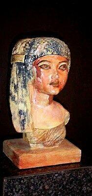 Bust of Queen Ankhesenamun, wife of Tutankhamen.