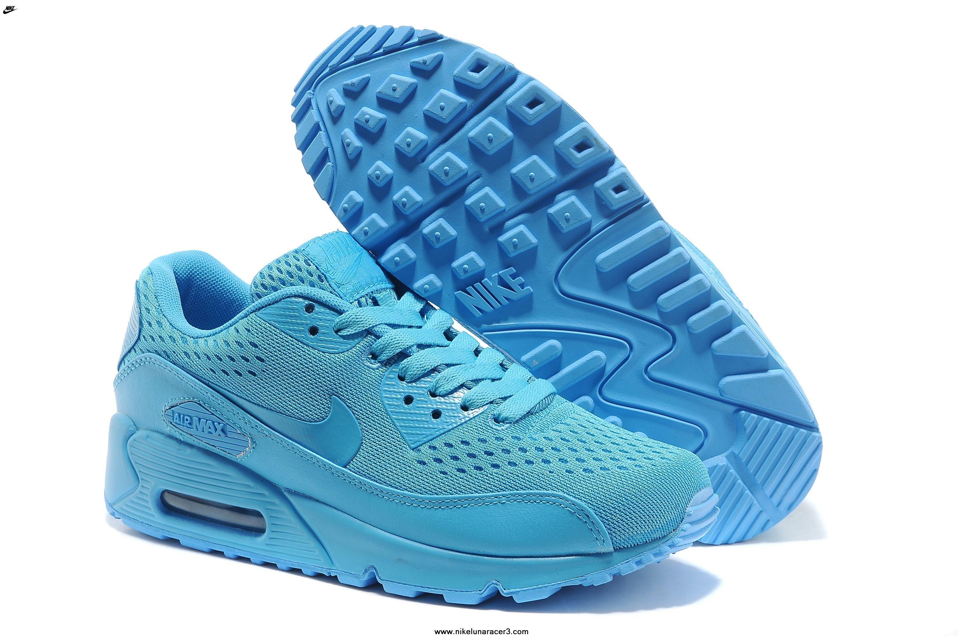 Air Max 90 Premium EM Mens Shoes 2014 Release Blue