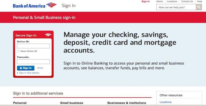 Bank of America Login Online Banking