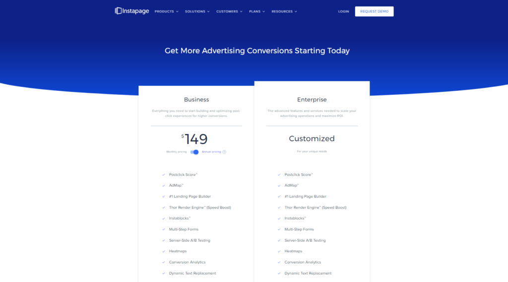 Best Landing Pages 2020.Best Landing Page Builder Instapage In 2020 Digital