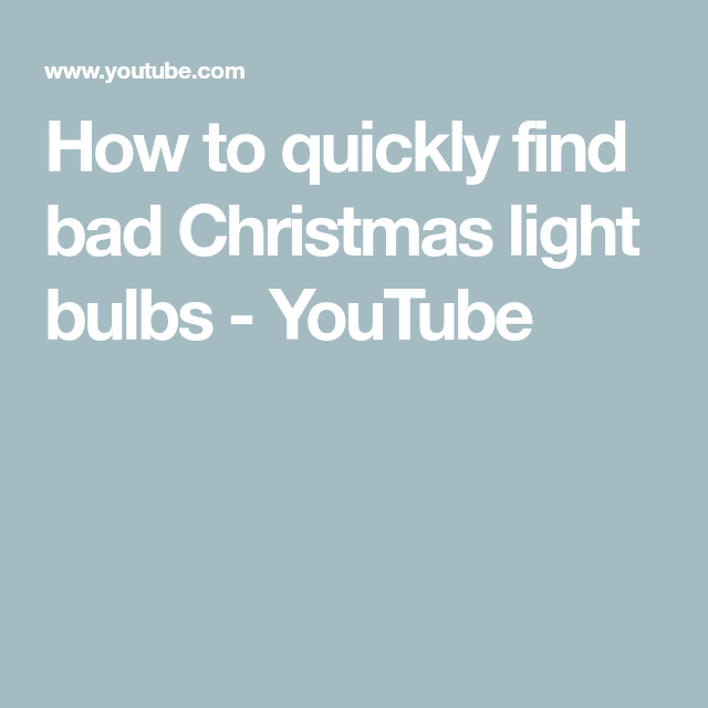 How To Find Bad Bulb In Christmas Lights.How To Quickly Find Bad Christmas Light Bulbs Youtube