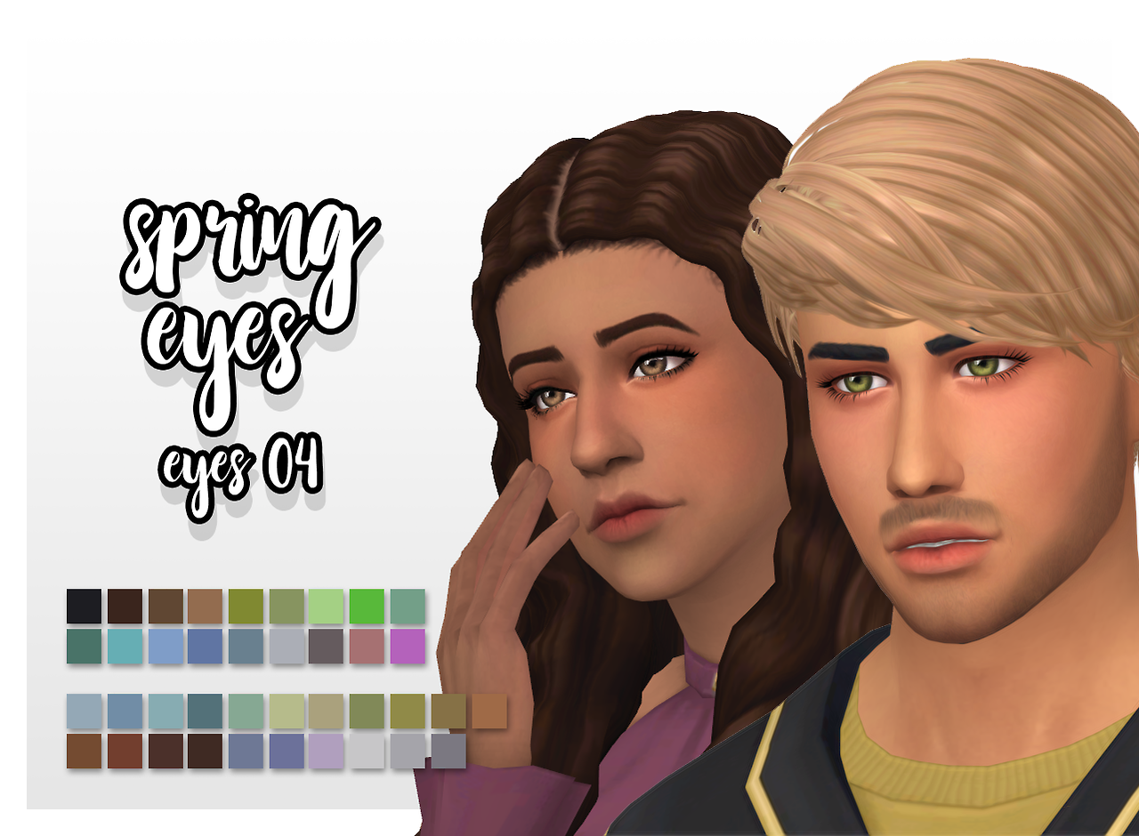 spring eyes • default replacement for ea colors • ea colors + custom