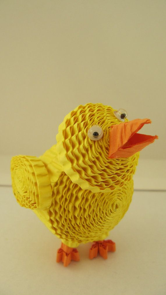 3D Easter chick / Easter decoration / Paper by OrnamentHouse