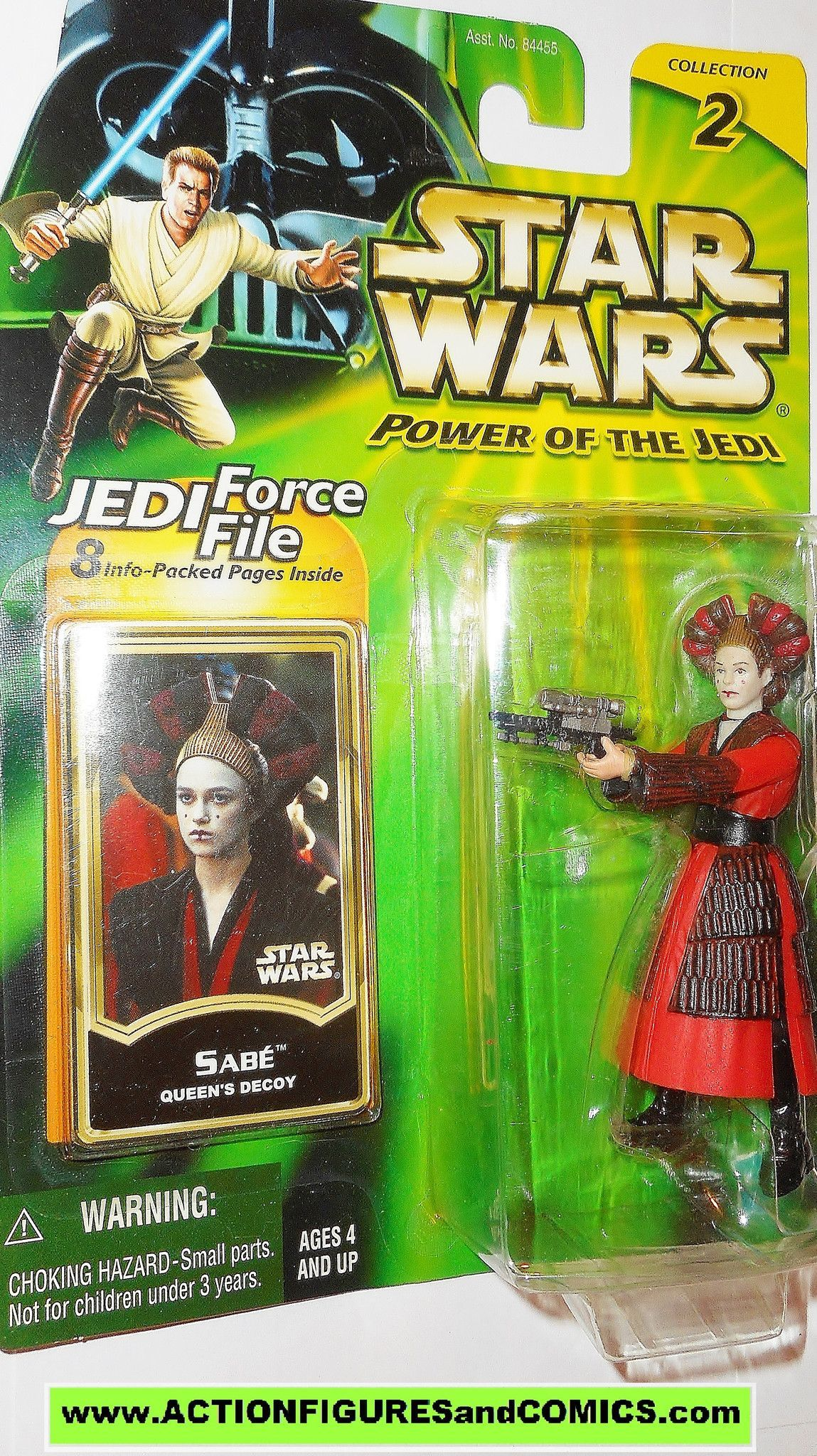 Brand New! Hasbro Star Wars Power of the Jedi Sabe Queen/'s Decoy action figure