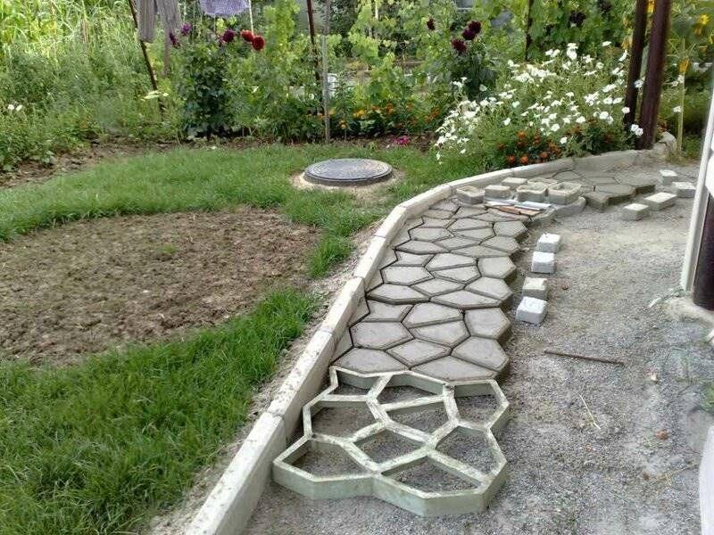 Фактурный бетон дорожки пластиковые бетон