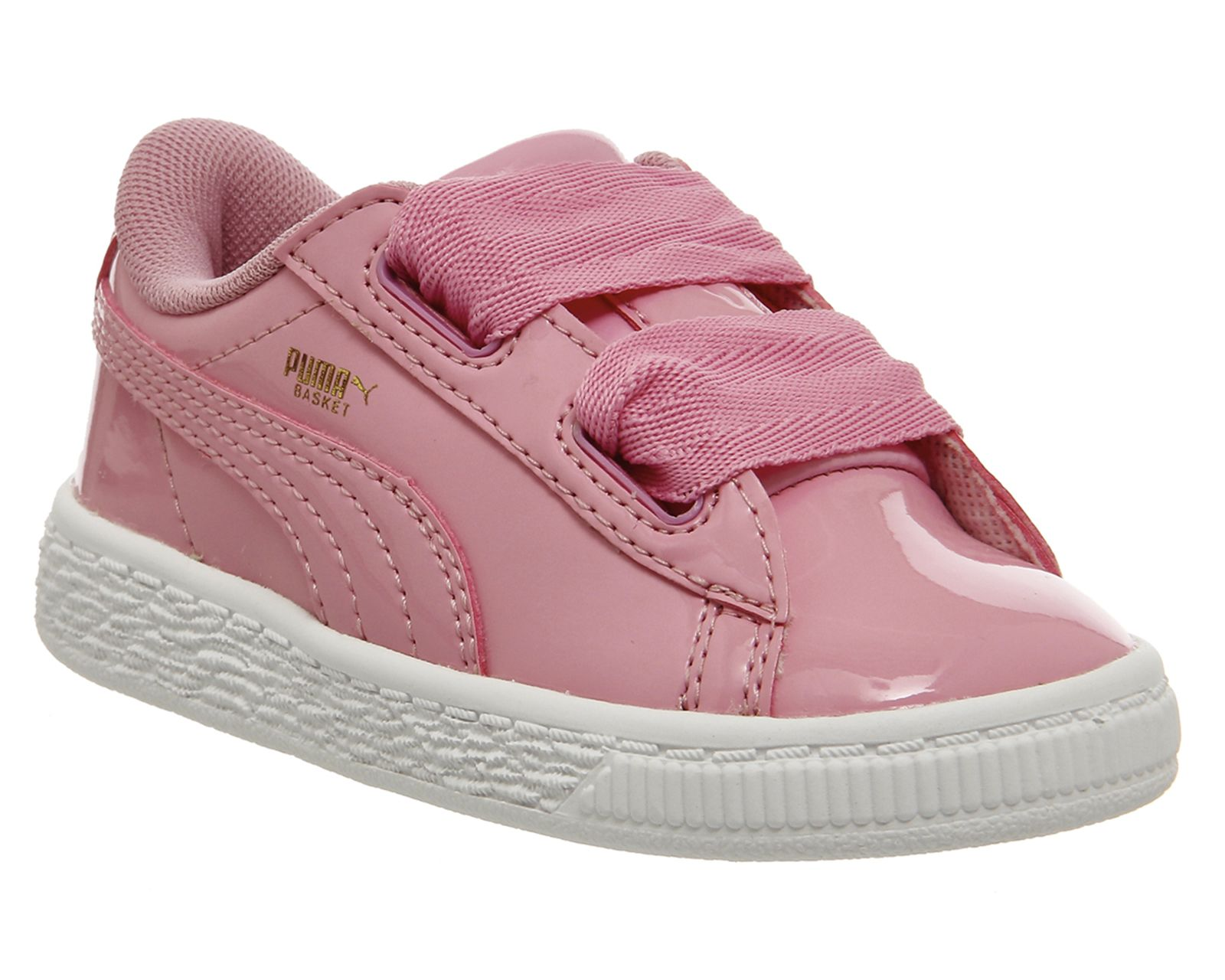 9e2c9c86cfb Puma Basket Heart Inf Prism Pink Patent Puma Basket Heart, Kid Shoes, Baby  Shoes
