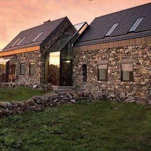 Traditional Irish stone wall modern design