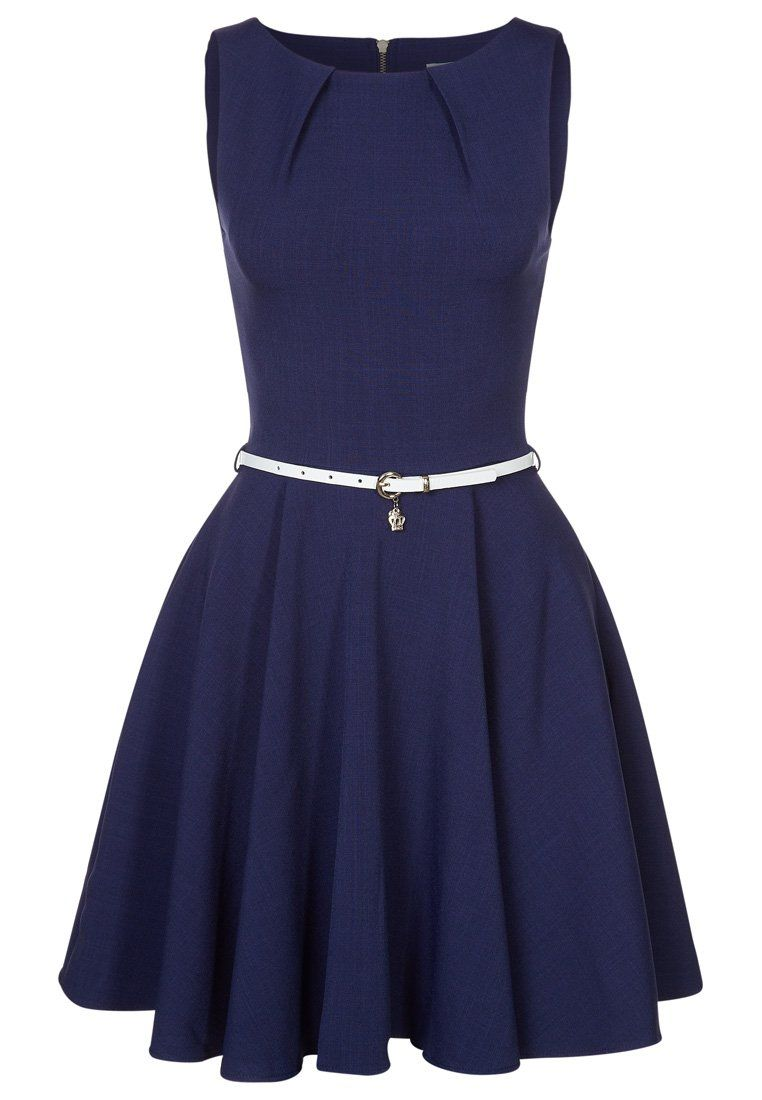 closet cocktailkleid / festliches kleid - navy/cream