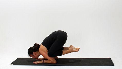 how to do baby crow pose  yoga poses strength yoga crow pose