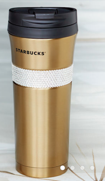 very fancy gold Swarovski Starbucks travel mug & very fancy gold Swarovski Starbucks travel mug | Gold | Pinterest ...