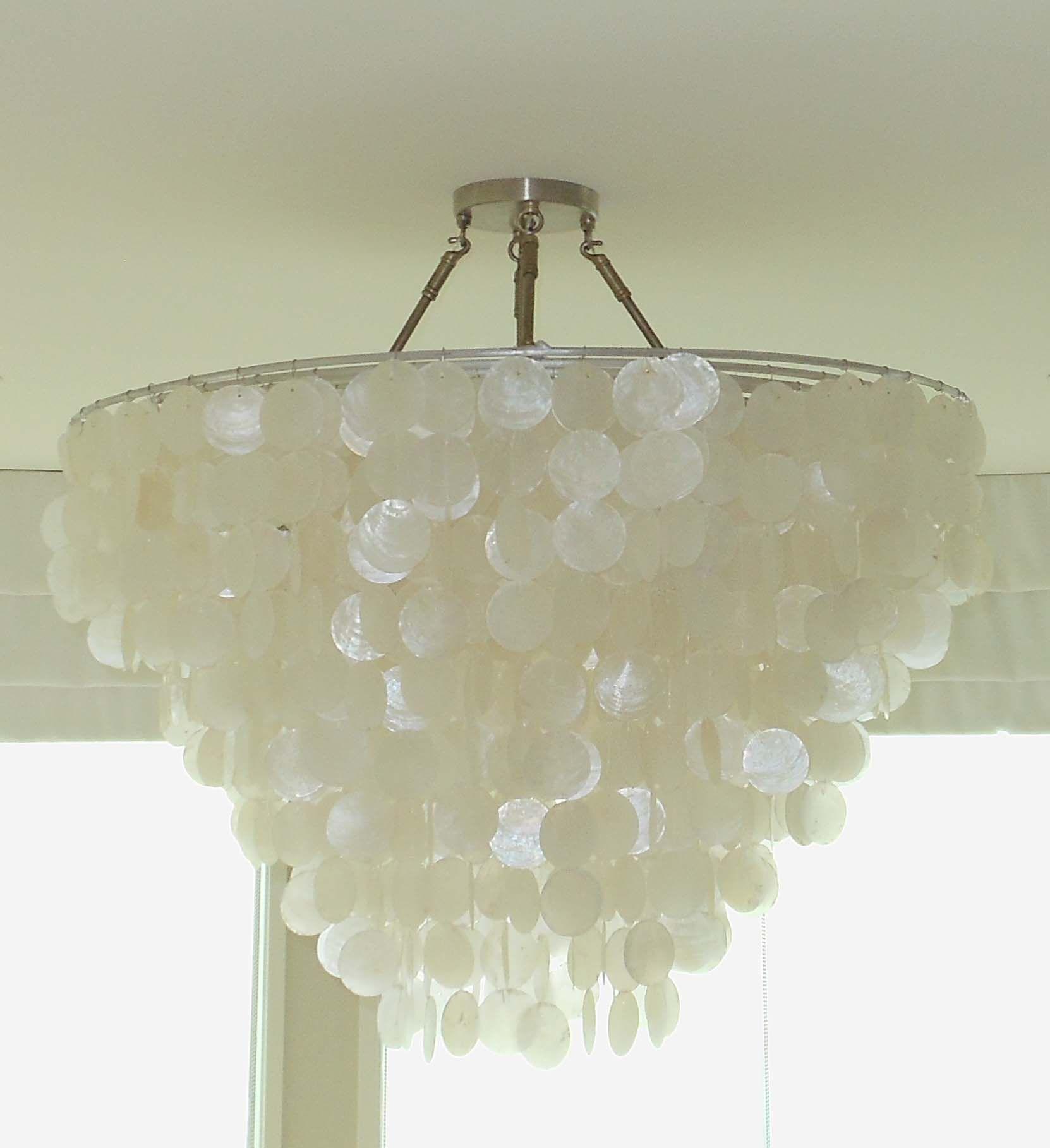 Custom capiz shell chandelier by sls designs inc stephens picks custom capiz shell chandelier by sls designs inc aloadofball Gallery