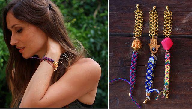 DIY : Bracelet Brésilien motif diamant / poison