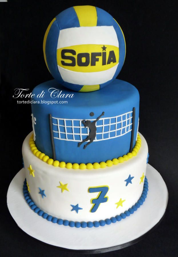 Brilliant Volley Cake With Images Volleyball Cakes Volleyball Birthday Personalised Birthday Cards Arneslily Jamesorg