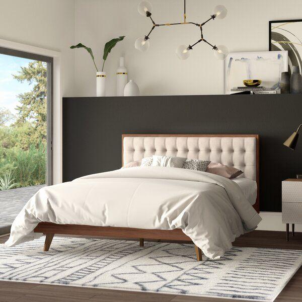 Best Elizabeth Street Upholstered Platform Bed Modern 400 x 300