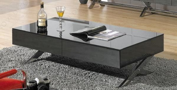 High Gloss Coffee Table In Black Gray By Creative Images International