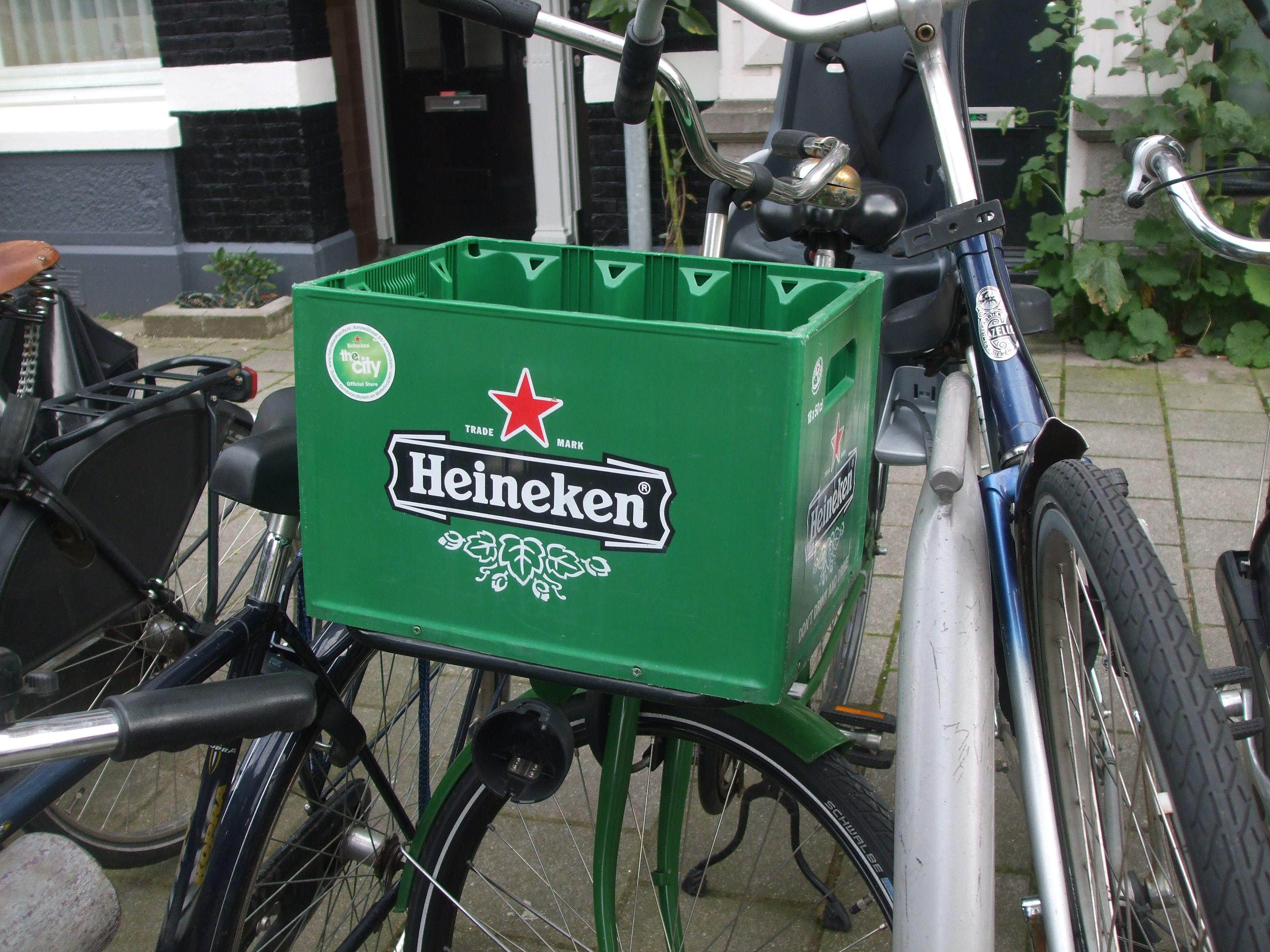 heineken beer plastic bike basket | Bike Baskets | Pinterest