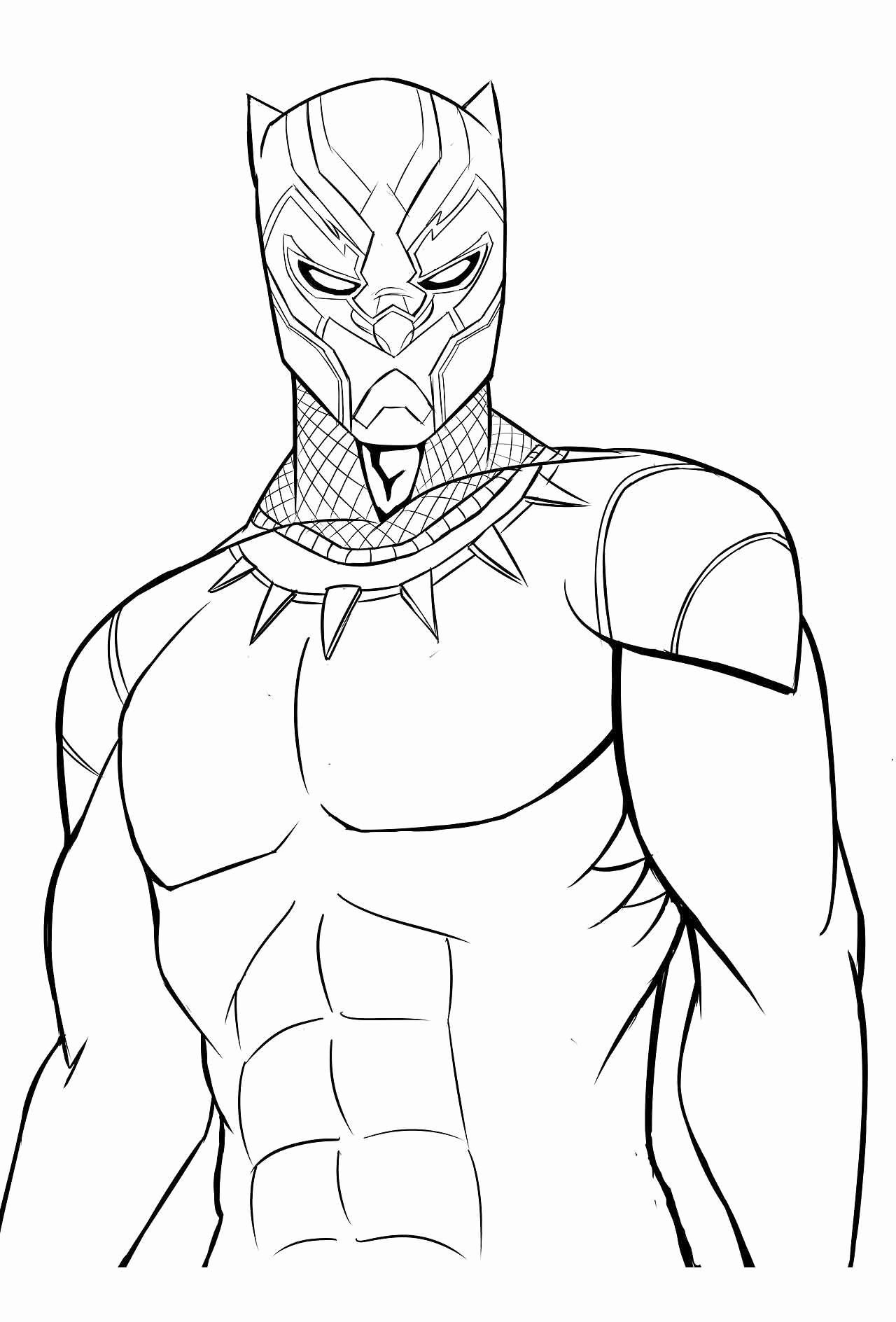Avengers Black Panther Coloring Pages For Kids In 2020 Avengers Coloring Pages Superhero Coloring Pages Avengers Coloring