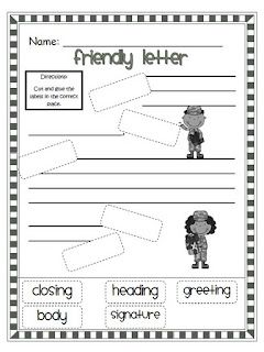 Labeling parts of a letter | Language Arts Ideas | Teaching