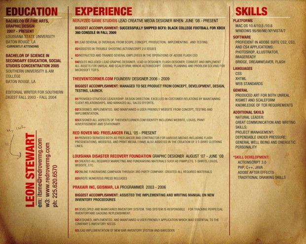 Creative Graphic Designer Resume Graphic Designer Resumes