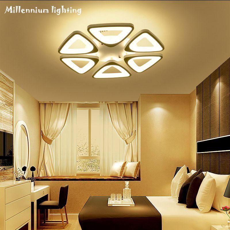 Acrylic Led Ceiling Lighting Modern Minimalist Living Room Bedroom Restaurant Study Lamp Ac110 240v Dimmable Fixtures Qianxia Modern Minimalist Living Room Dining Room Light Fixtures Minimalist Living Room