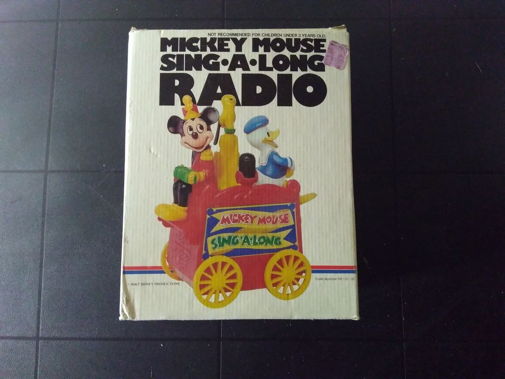 9c893a53e3092 Vintage Mickey Mouse Sing A Long Radio Concept 2000 (eBay Link ...