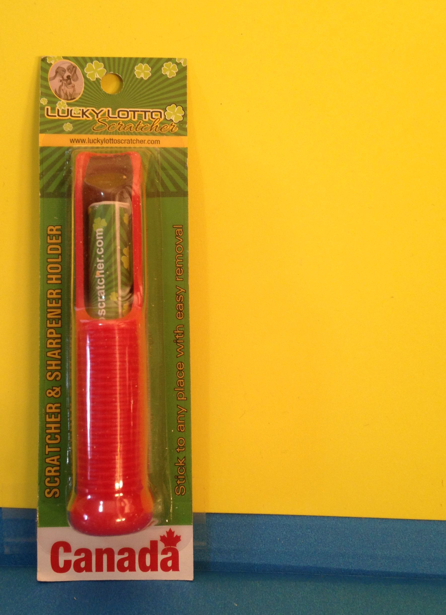 You can get one lucky Lotto Scratcher and a sharpener for