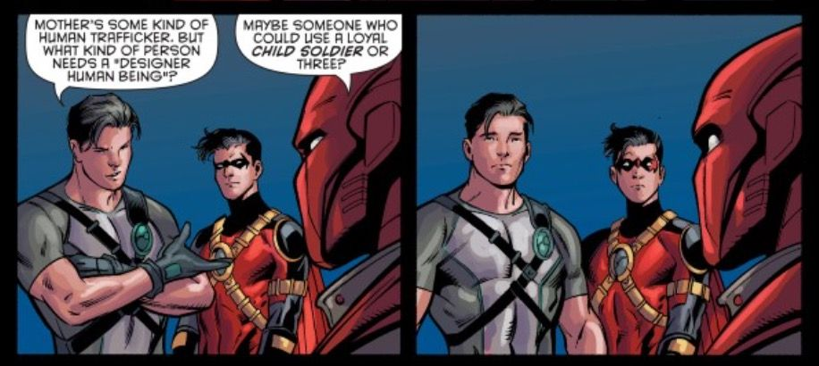 """That moment in """"Batman & Robin Eternal"""" when the boys discovered the truth...."""