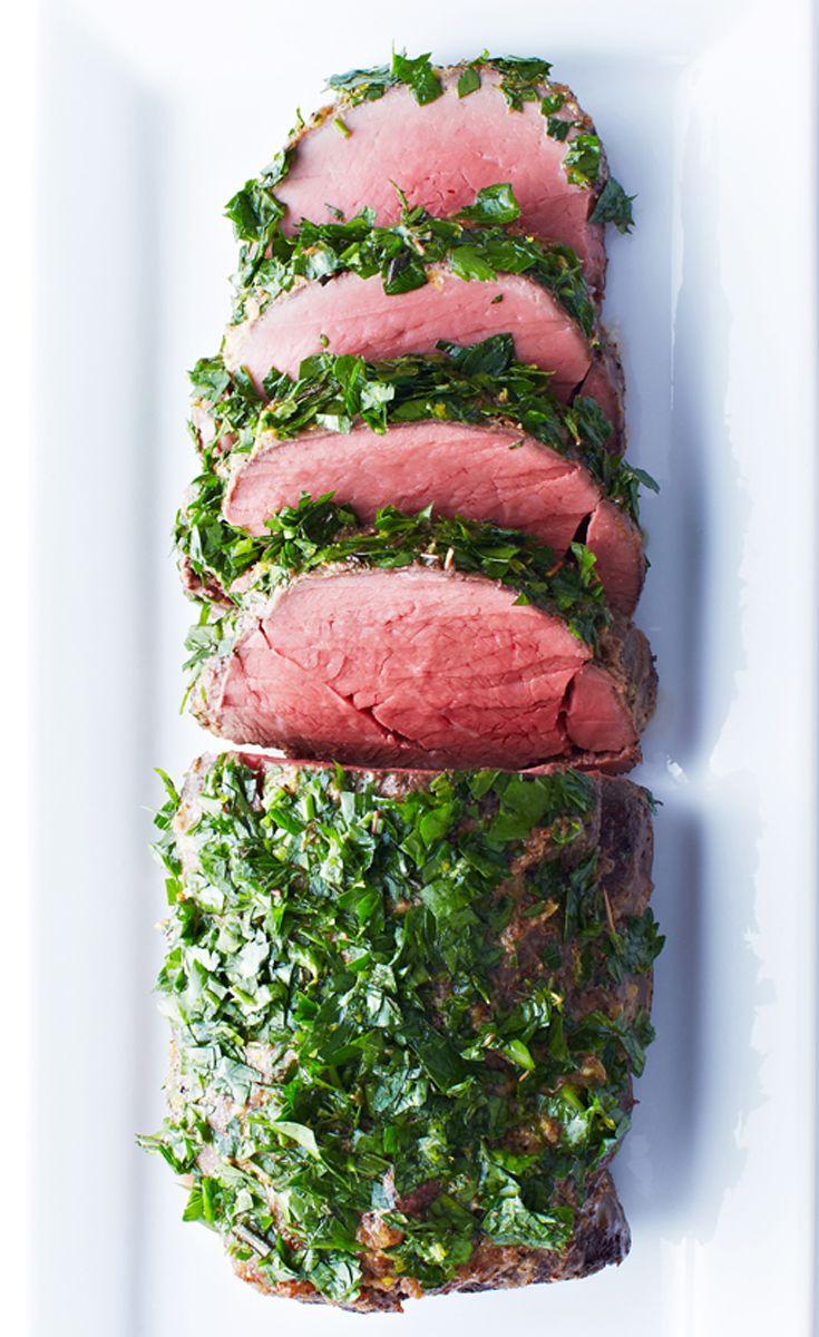 Horseradish-Crusted Beef Tenderloin with Herb Gremolata recipe #BiteMeMore