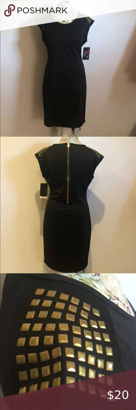Black Dress With Gold Accents Black Knee Length Dress That Has Gold Detail And Gold Zipper In Back Dresses Mi Black Dress Black Knee Length Dress Black Knees [ 1740 x 580 Pixel ]