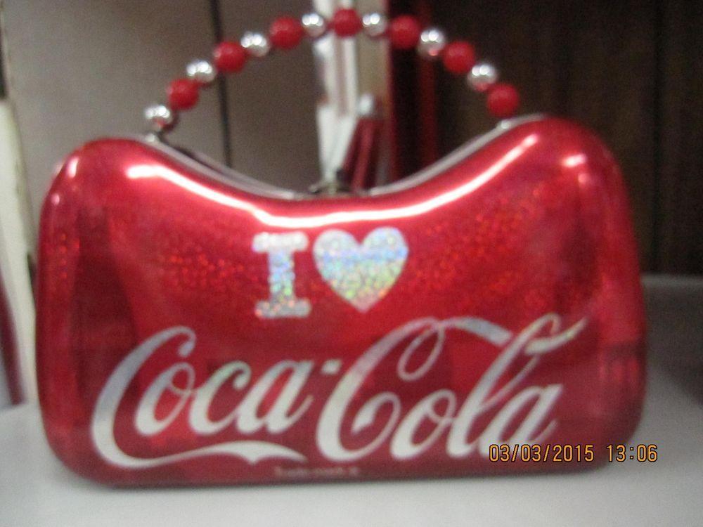 Coca-Cola Tin Purse ( I Love Coca-Cola ) - NEW FREE SHIPPING