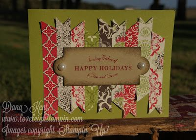 Stampin' Up! Flags and Tags Christmas Card