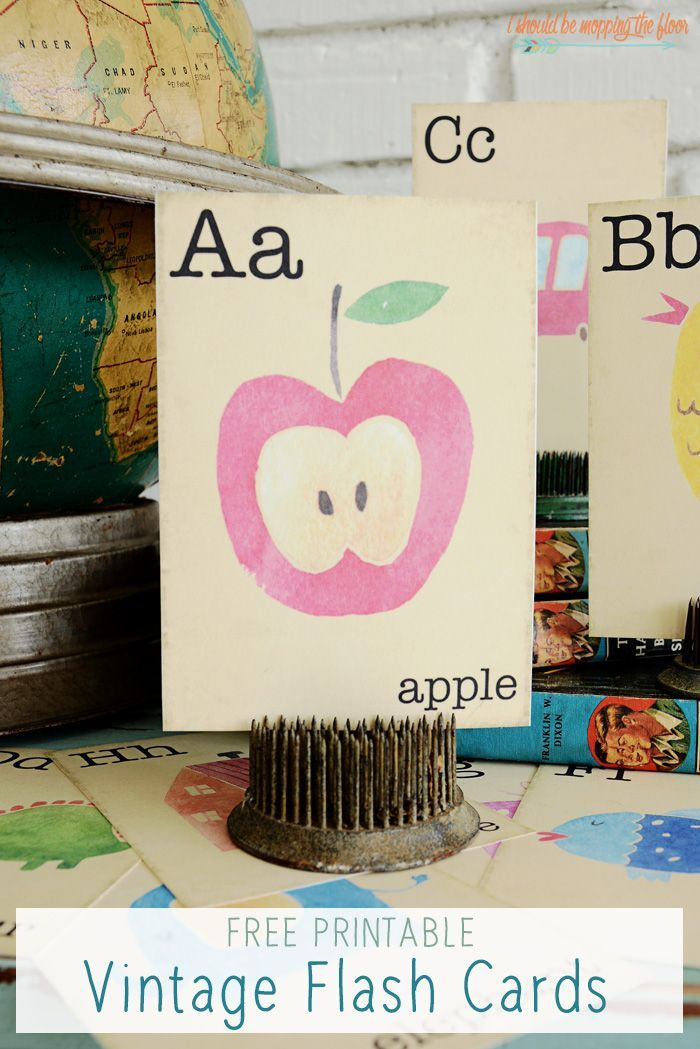 Classroom Decor Download : Free printable vintage flash cards