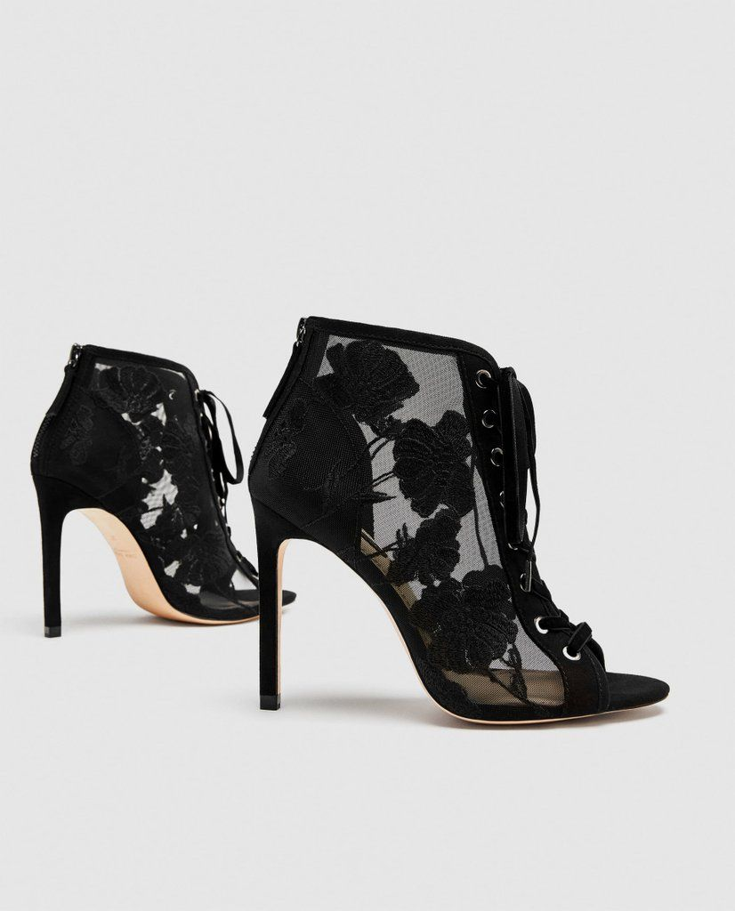0d4c4bee74c Our Pick  Zara Lace-Up Embroidered High Heel Shoes