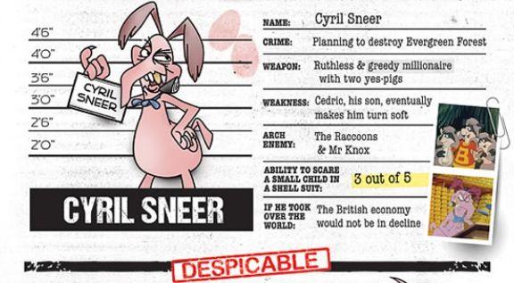 '80s Cartoon Villans: Cyril Sneer - The Raccoons | 80's ...