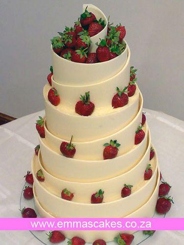 White Chocolate Spiral Wedding Cake Chocolate Wedding Cake Wedding Cake Flavors Cake