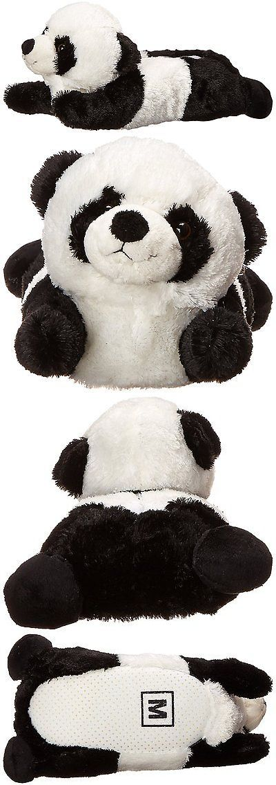 46e21f05c1890 Slippers 163550  Adult Medium Unisex Black White Panda Animal Plush Fuzzy  Slippers -  BUY IT NOW ONLY   31.22 on eBay!