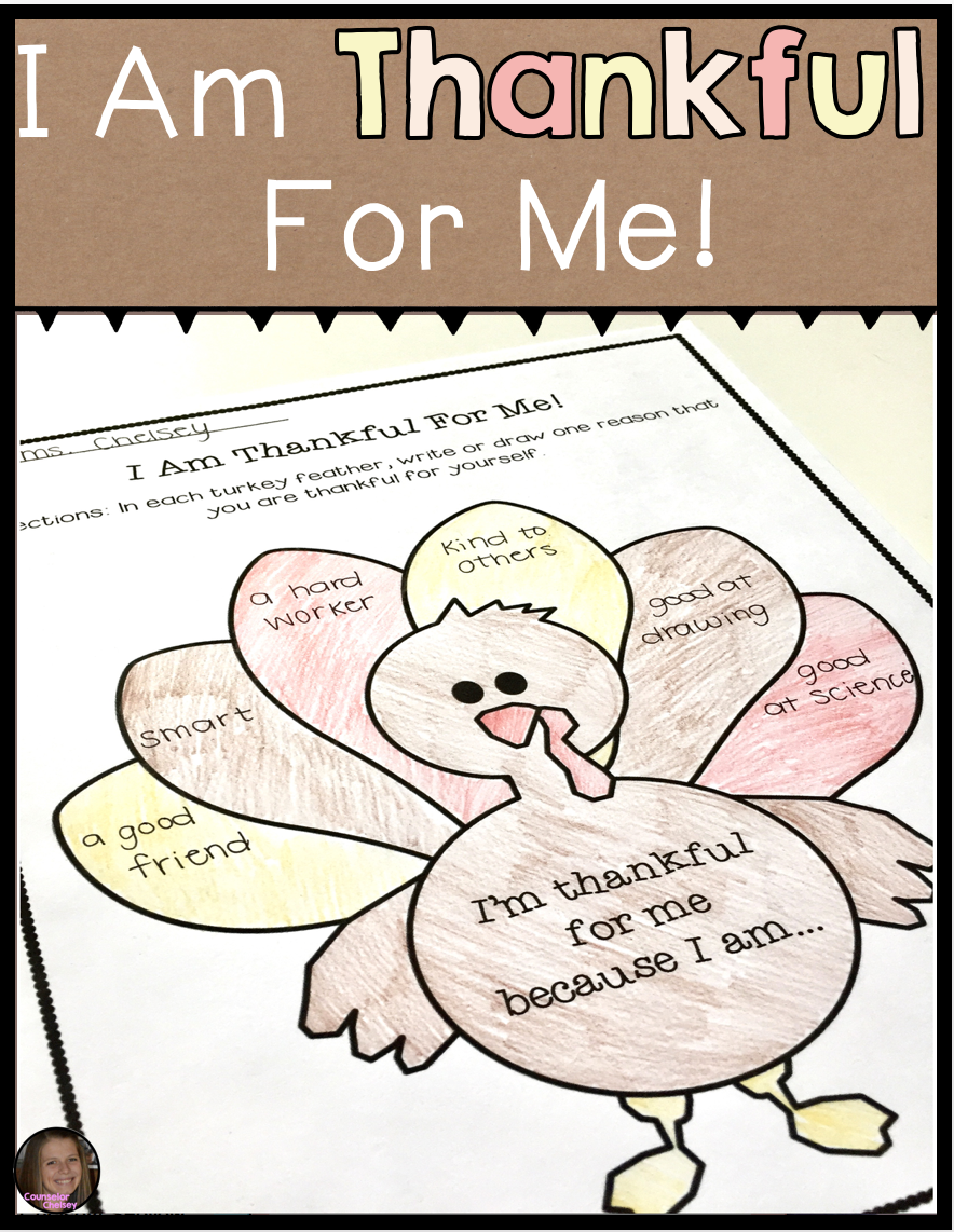 Self esteem thanksgiving activities i am thankful for me thankful