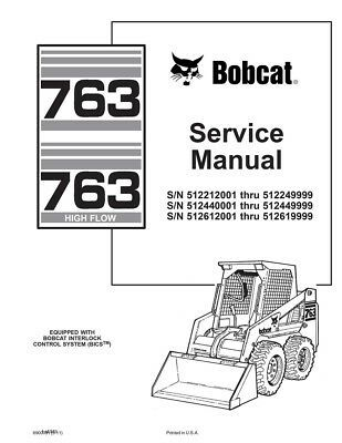 Details about Bobcat 763, HF (Highflow) New 2011 Edition