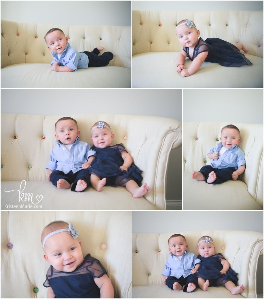 Picture Ideas With Twins: Cute Posing Ideas For 6 Month Old Twins