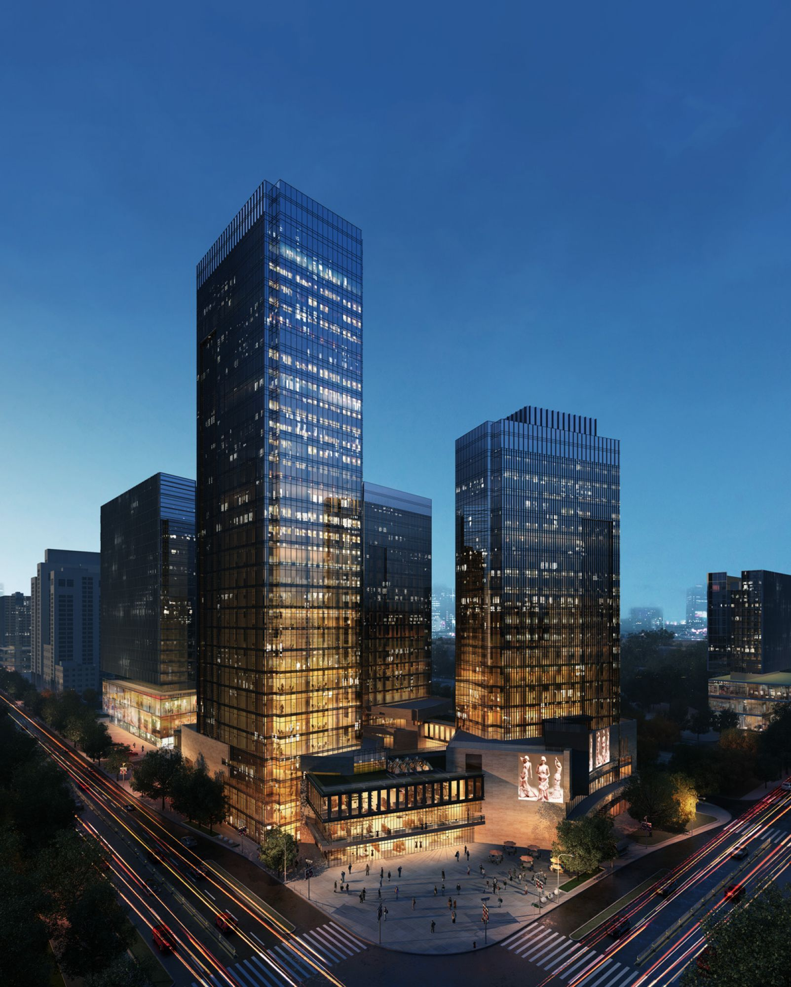 Jy Li China Exterior architectural visualization 3D rendering Matte painting render exteriores Pinterest