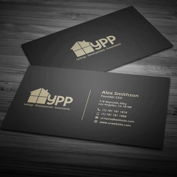 Property Development And Investments Company Business Card By Onepix