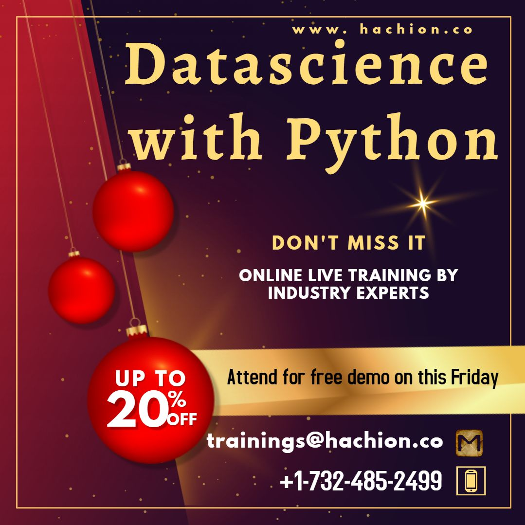Data science with Python Online Live Training in 2020